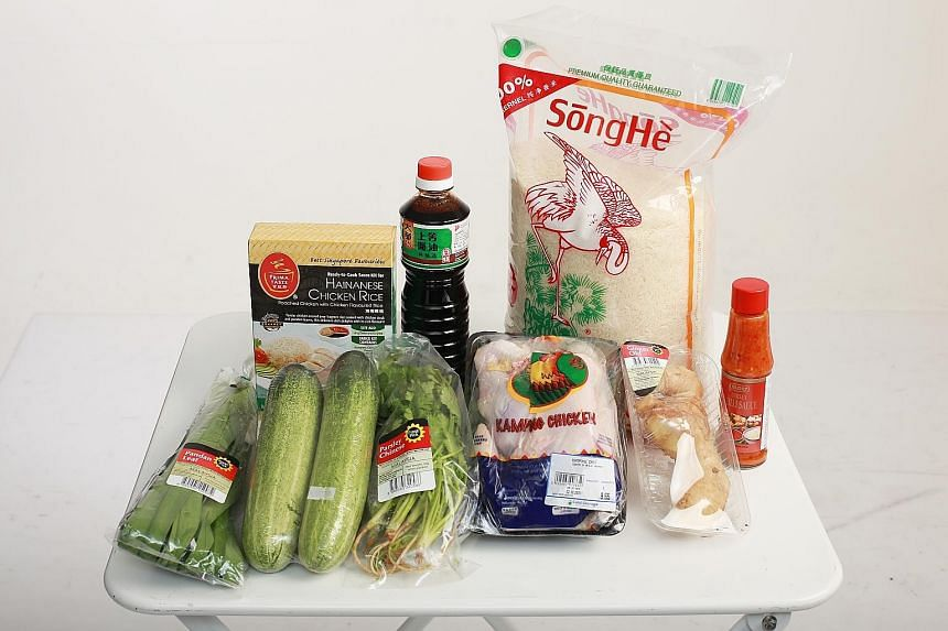 The cost of the nine items in the Cold Storage order added up to $42.20, plus a $12 delivery charge. The groceries were delivered in a refrigerated truck, so everything arrived cold.