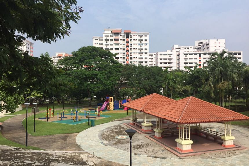 The haze situation in Chua Chu Kang at around 10am on Oct 7, 2015.