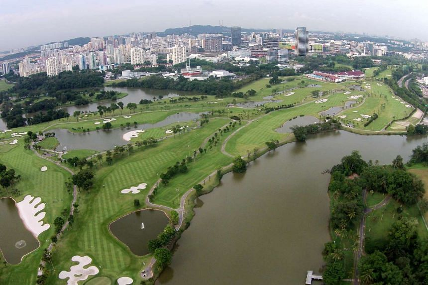 An aerial view of the Jurong Country Club site, where Singapore's high-speed rail terminus will be located.