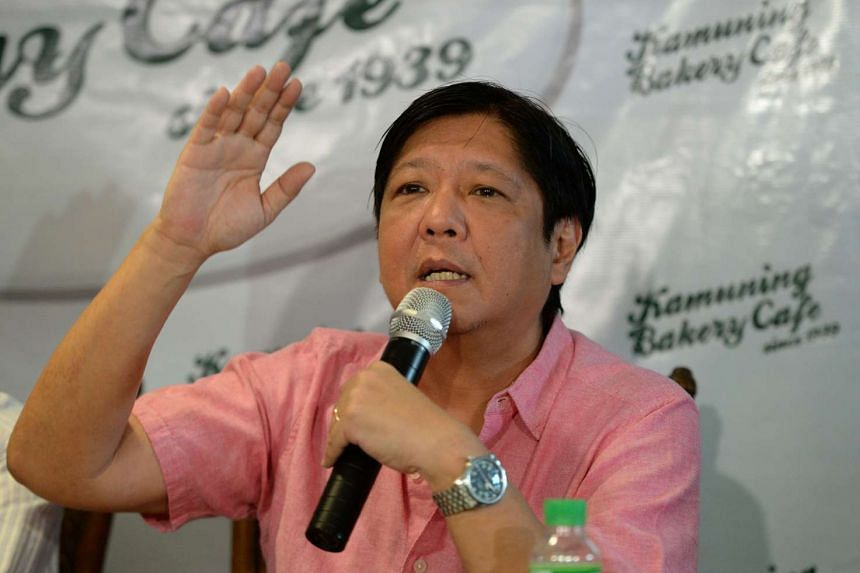 Mr Ferdinand Marcos Jr said that his father's legacy would help rather than hamper his own bid for the vice-presidency.
