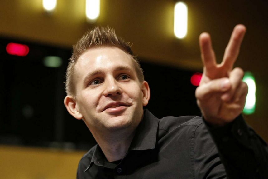 Austrian Max Schrems waits for the verdict of the European Court of Justice in Luxembourg on Tuesday.