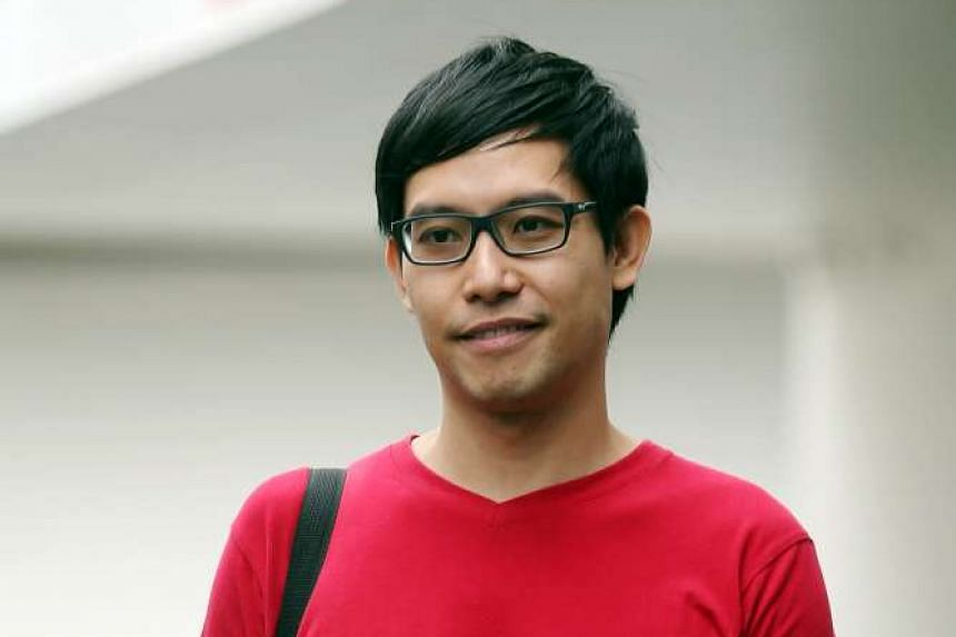Roy Ngerng was fined $1,900 after pleading guilty to two charges related to a Hong Lim Park protest rally on Sept 27, 2014.