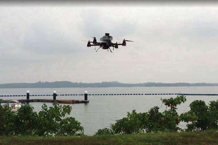 SingPost delivered a package to Pulau Ubin using a drone.