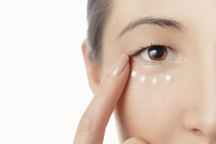 Always apply eye cream in gentle tapping motions with finger tips.
