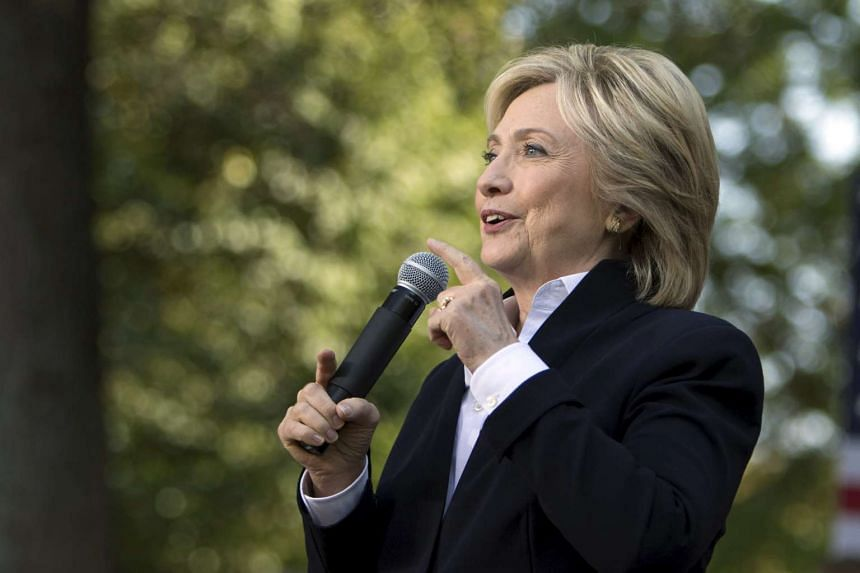 US Democratic presidential candidate Hillary Clinton speaking during a community forum campaign event at Cornell College on Oct 7, 2015.