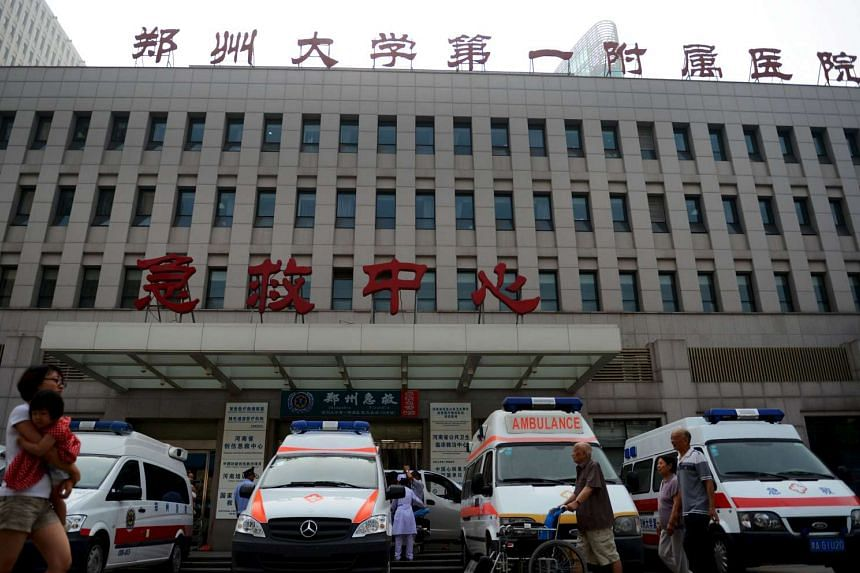 The emergency centre of the First Affiliated Hospital of Zhengzhou University in Zhengzhou, China, on July 4, 2015.