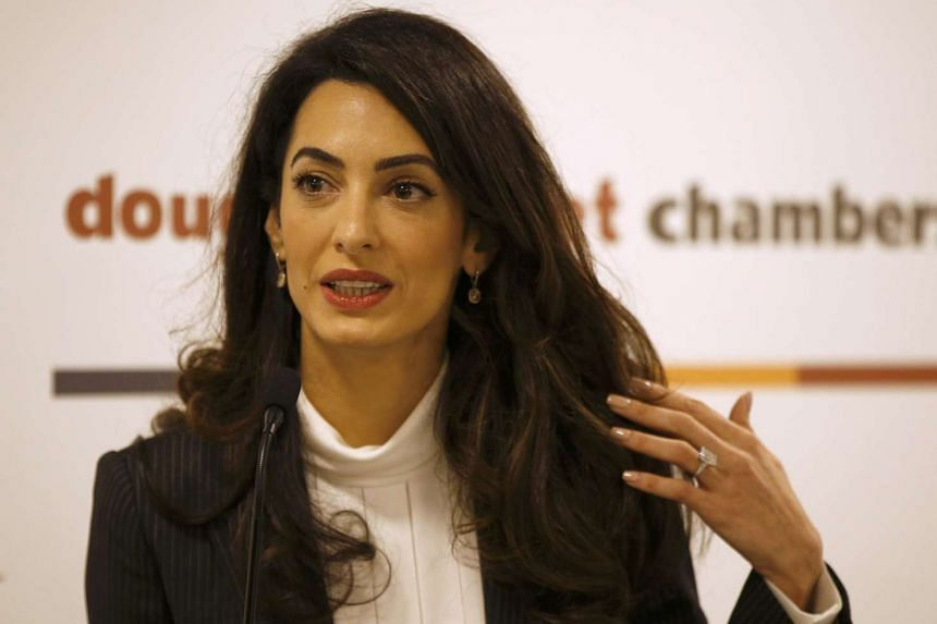 """Lawyer Amal Clooney said Mrs Arroyo's detention was """"arbitrary"""" and """"violates international law"""", in an e-mail sent to the former president on behalf of the UN working group on arbitrary detention."""