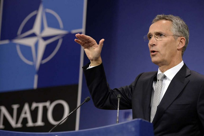 Nato Secretary-General Jens Stoltenberg addresses a press conference at the NATO headquarters in Brussels, on Oct 6, 2015.