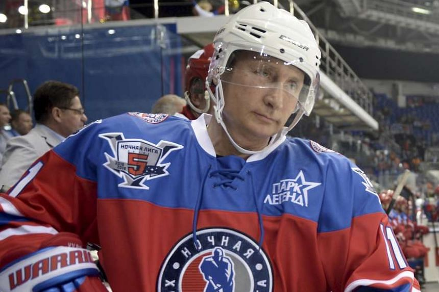 Putin takes part in a gala game, opening a new season of the Night Ice Hockey League in Sochi.