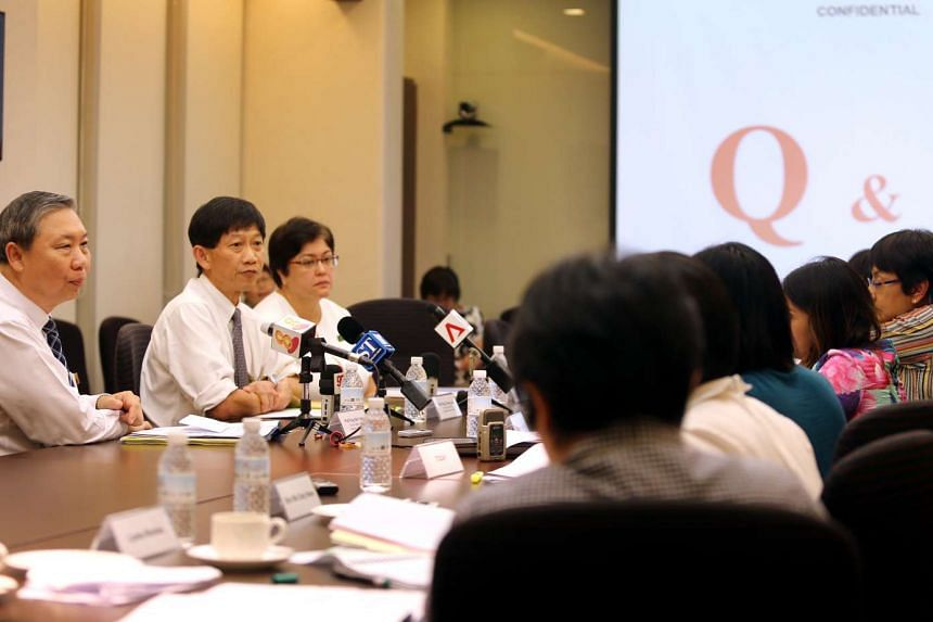 Media briefing on hepatitis C outbreak among patients at the Singapore General Hospital.