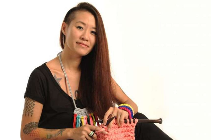 Ms Adeline Loo hopes to highlight the physical and mental benefits of knitting.