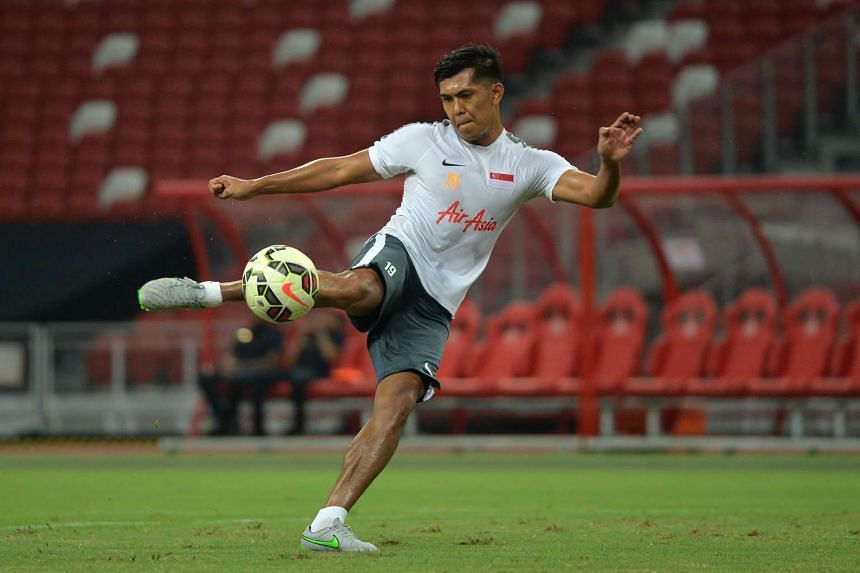 Khairul Amri, who will earn his 102nd Singapore cap tonight, will be honoured with a golden boot by the Football Association of Singapore and the Lions' apparel sponsor Nike.