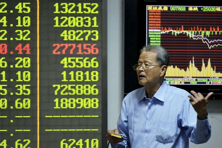 An investor at a brokerage house in Hangzhou, China, on Sept 25, 2015.