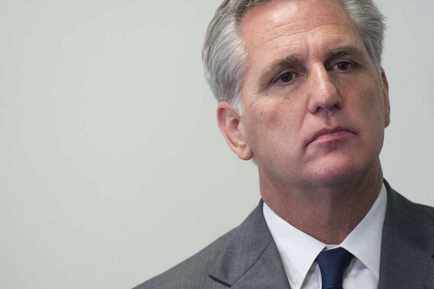 US House Majority Leader, Representative Kevin McCarthy, attending a press conference following the weekly House Republican Conference meeting on Oct 7, 2015.