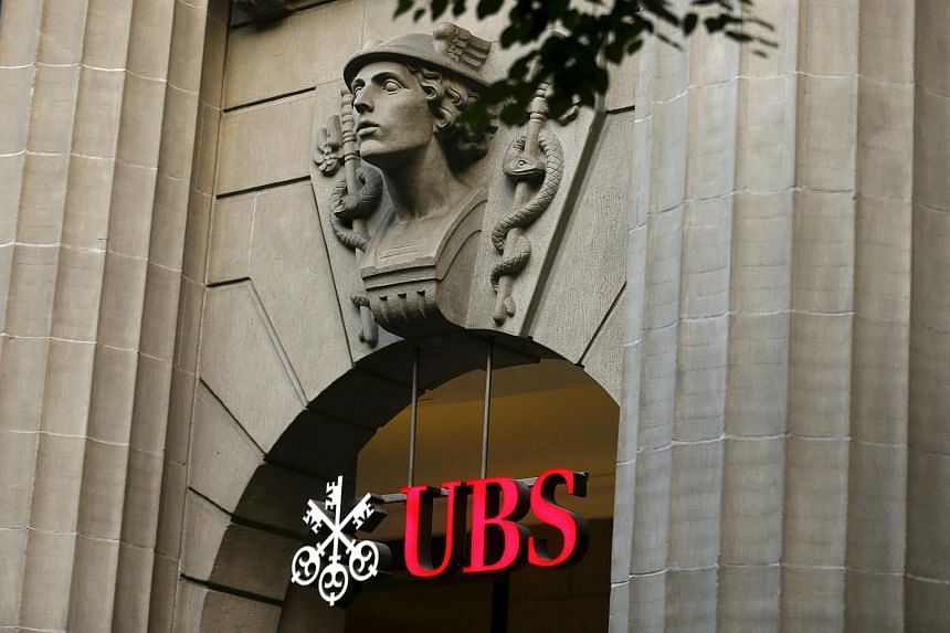 The logo of Swiss bank UBS is seen at its headquarters Zurich.
