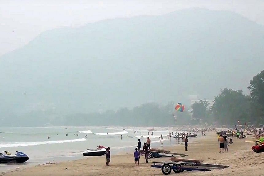 The haze has spread to resorts and beaches in Thailand, such as Phuket's Patong beach. Last month, Singapore's National Environment Agency began legal action against five firms believed to be linked to Indonesia's haze-causing forest fires.