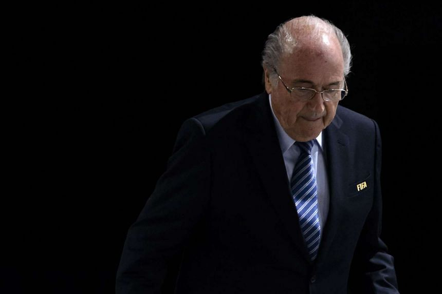 Blatter (above) was suspended for 90 days on Thursday.
