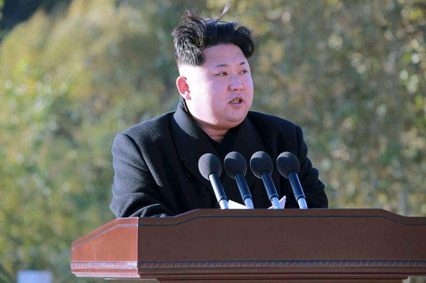 North Korean leader Kim Jong Un at the Paektusan Hero Youth Power Station's completion event, in this undated photo released by the Korean Central News Agency on Oct 4.