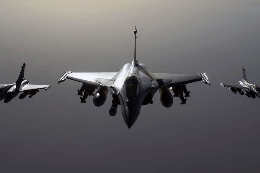 French Rafale jets carried out a second wave of strikes on an ISIS training camp overnight on Oct 9, 2015.