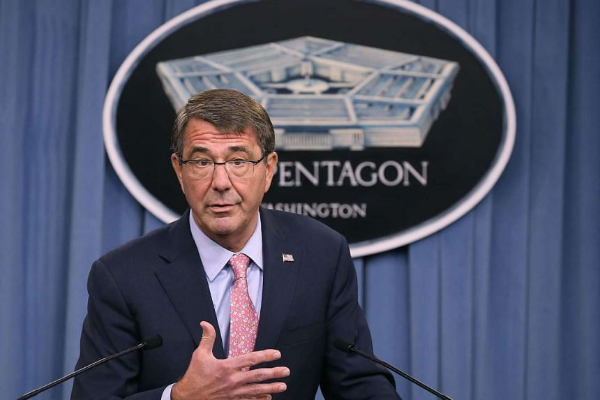 US Secretary of Defense Ashton Carter speaks during a news conference at the Pentagon Sept 30, 2015.