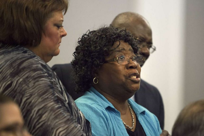 Mrs Judy Scott, mother of Walter Scott, gives an emotional plea to deny bond during a hearing for former police officer Michael Slager, in Charleston, South Carolina on Sept 10, 2015.