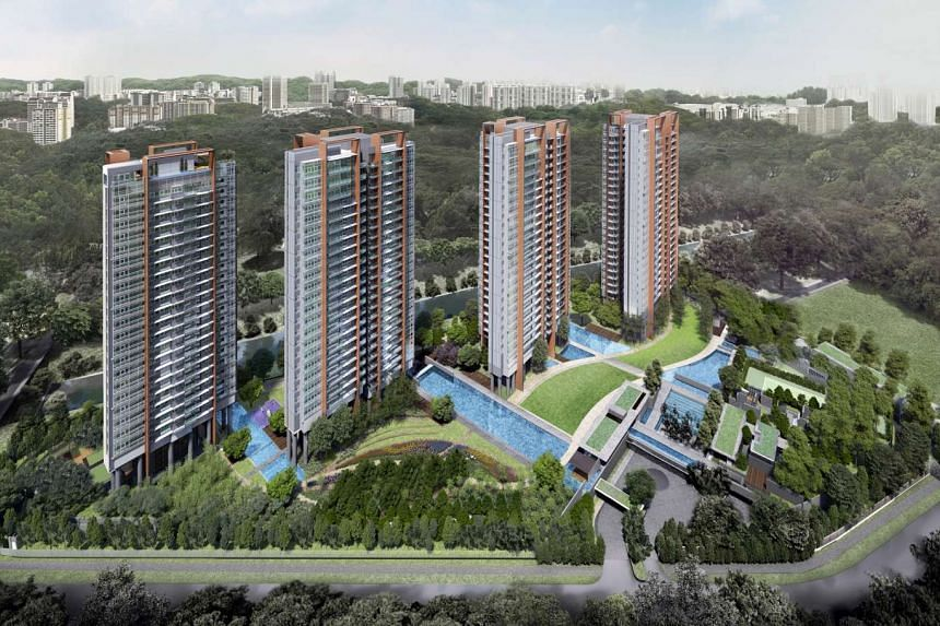 Artists impression of Principal Garden, a 663-unit development at Prince Charles Crescent, launched by UOL Group and Kheng Leong Company. PHOTO: UOL GROUP