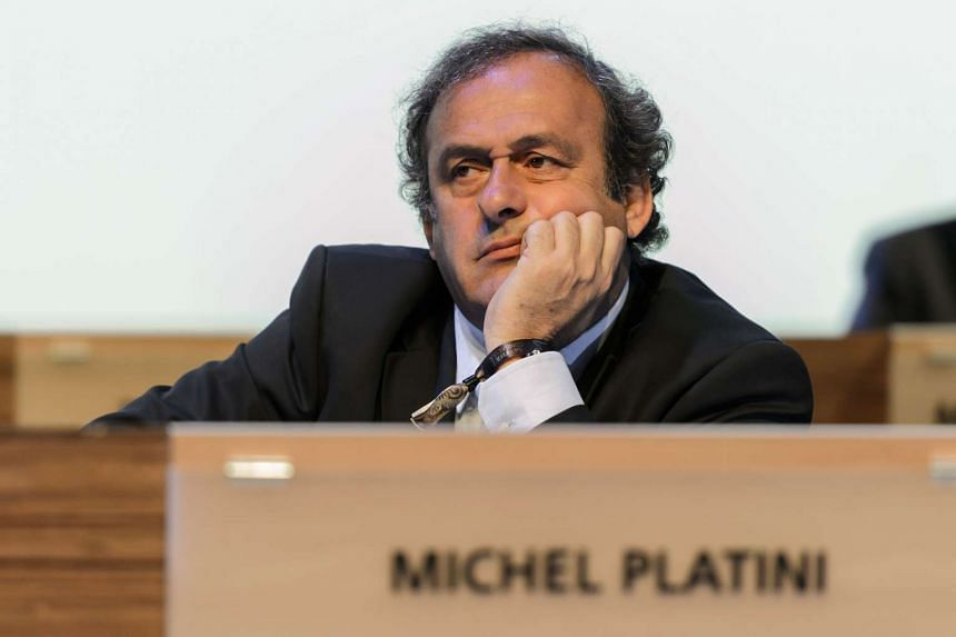 In this file picture taken on June 11, 2014 Uefa president Michel Platini attends the 64th Fifa congress in Sao Paulo, on the eve of the opening match of the 2014 Fifa World Cup in Brazil.