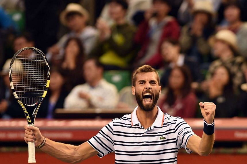 """""""Shoeless"""" Frenchman Benoit Paire surprises Kei Nishikori and makes it to the Japan Open finals against top seed Stan Wawrinka."""