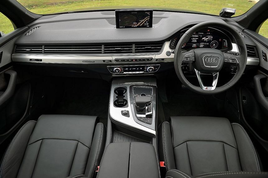 The new Audi Q7 is a big SUV, but looks svelte and feels nimble.