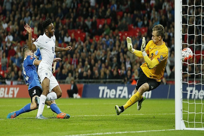 A 2-0 win over Estonia, with Raheem Sterling netting the second goal, means England can qualify for Euro 2016 with a perfect 10-0 record if they beat Lithuania tomorrow.