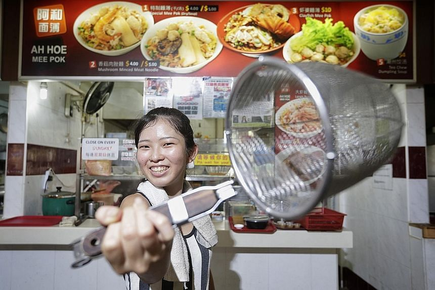 Japanese teenager serves up 'shiok' mee pok in Clementi