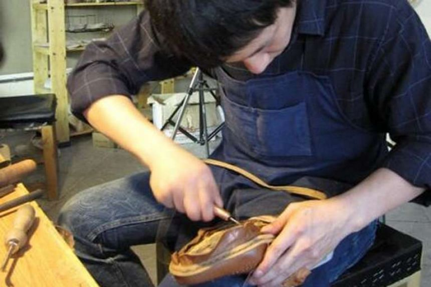 Mr Edwin Neo honing his craft during his six-week apprenticeship in Budapest in 2010.