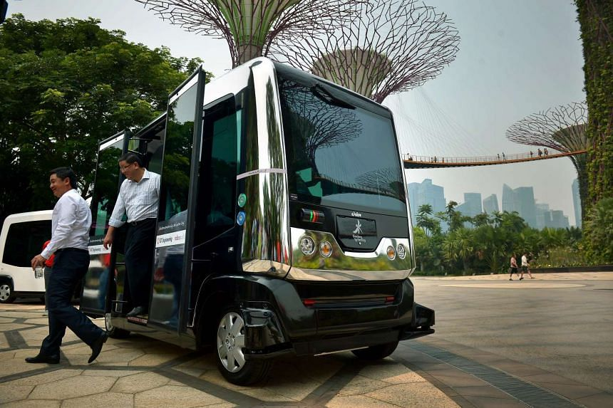 From December, visitors to Gardens by the Bay will be able to hop on to driverless shuttles that will take them around the grounds.