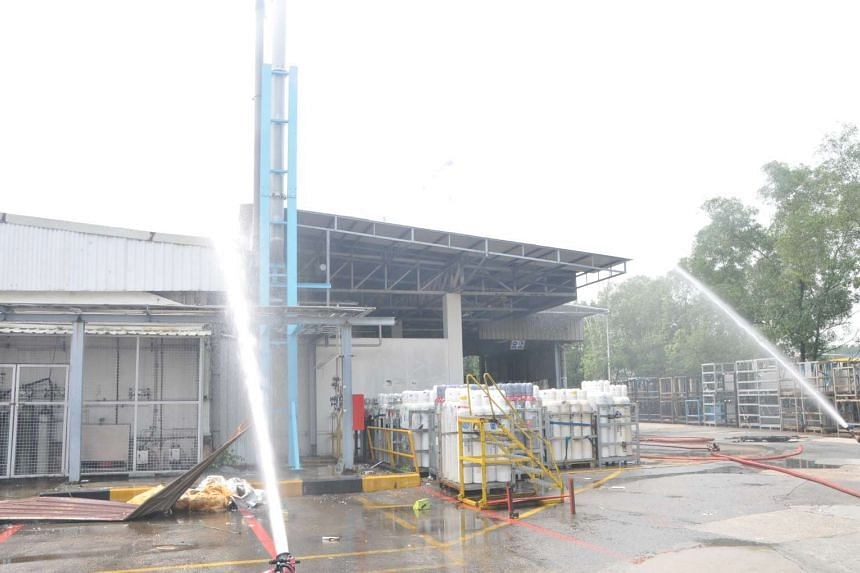 Four water jets were deployed to contain the fire within the laboratory.
