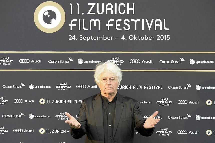 French director Jean-Jacques Annaud arrives on the green carpet before the screening of Wolf Totem at the Zurich Film Festival.