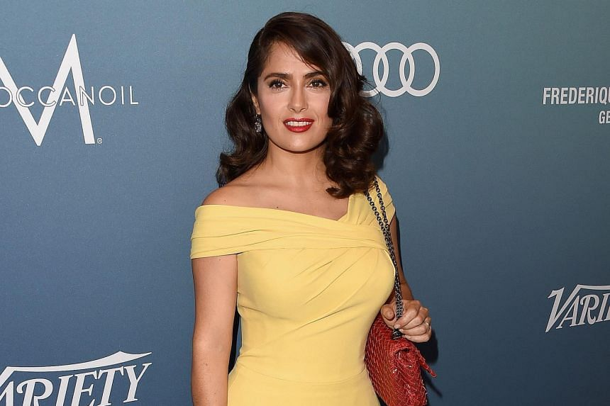 Salma Hayek (above) spoke up against Hollywood's gender-based wage gap at The Power Of Women event.