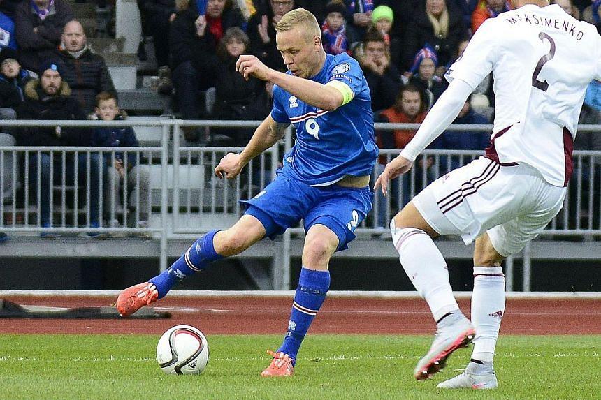 Iceland's striker Kolbeinn Sigthorsson