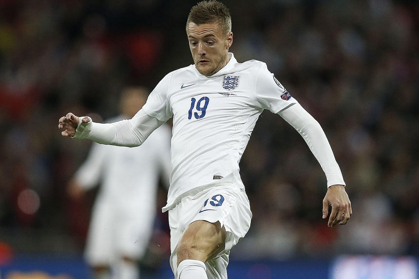 Jamie Vardy on the ball in England's 2-0 win over Estonia last Friday. He aims to be in the squad for Euro 2016 in France.
