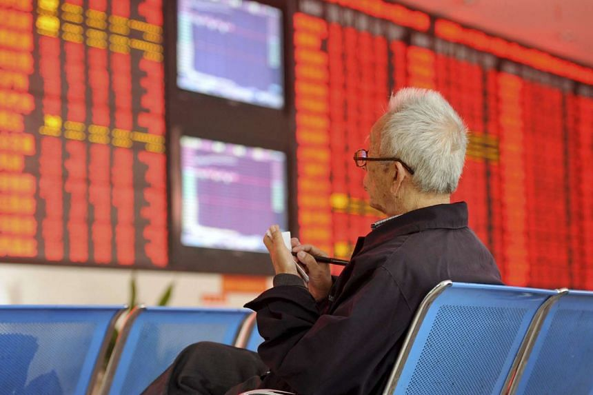 China shares jumped over 3 per cent on Monday (Oct 12) to their highest level in seven weeks after the central bank took fresh steps to inject liquidity into the struggling economy.