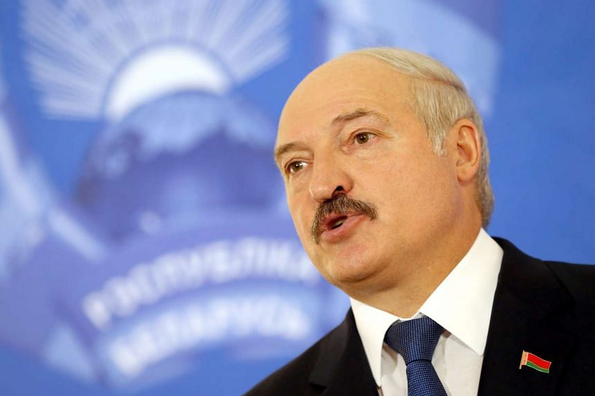 Belarusian President Alexander Lukashenko talks to media after casting his ballot at a polling station during presidential elections in Minsk, Belarus, on Oct 11, 2015.