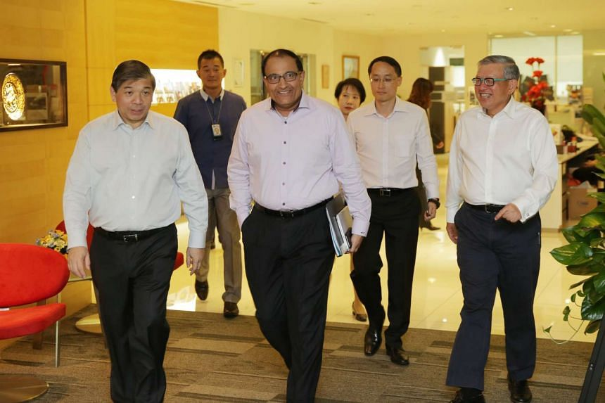 Mr S. Iswaran, Minister for Trade and Industry (Industry) met up with the Singapore Business Federation (SBF) and Singapore Chinese Chamber of Commerce and Industry (SCCCI) to discuss economic issues and gather feedback from the business community. T