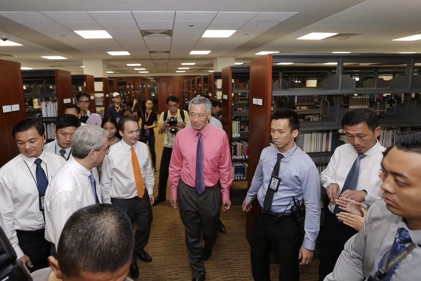 Prime Minister Lee Hsien Loong at Yale-NUS College Campus new campus.
