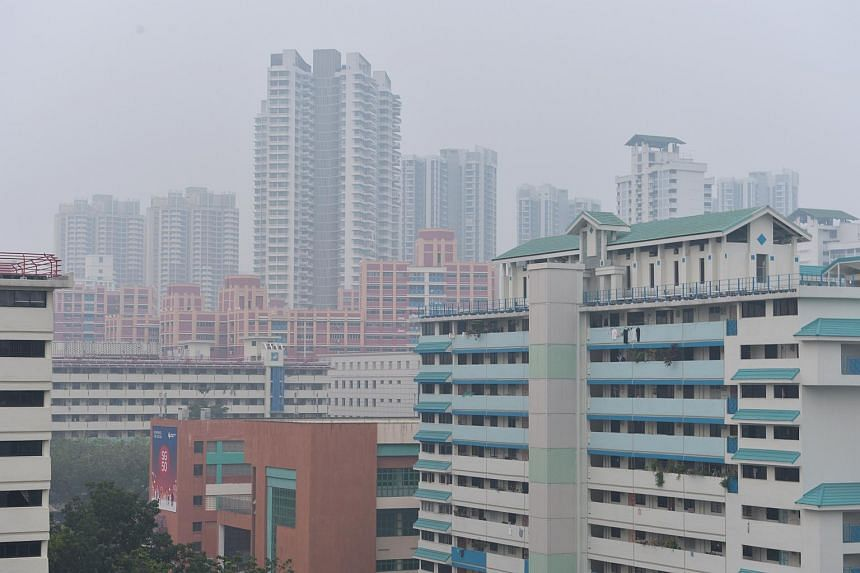 Hazy outlook at Toa Payoh on Oct 13, 2015.