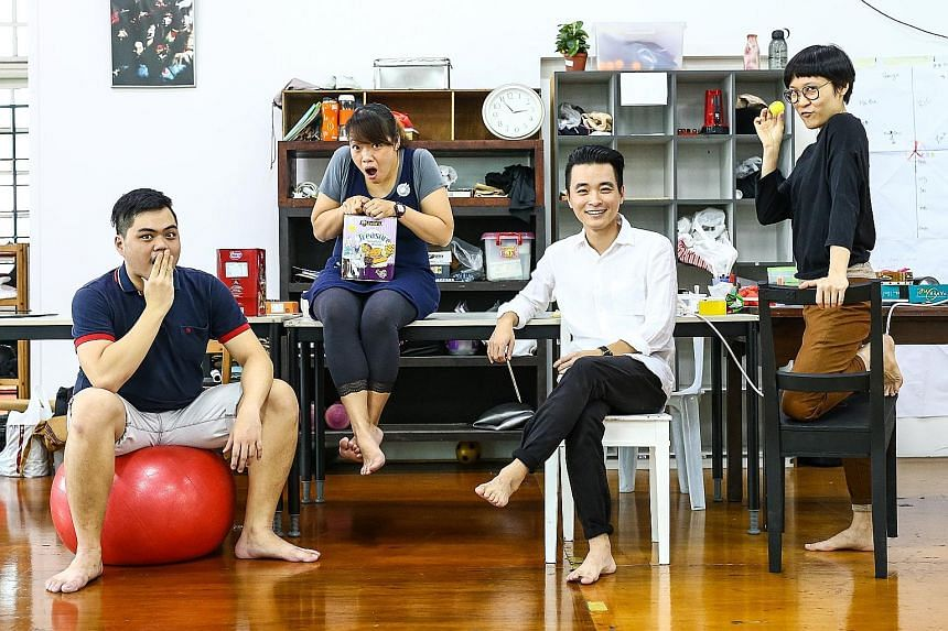 (From left) Upstream's Chong Woon Yong, Felix Hung, Liu Xiaoyi and Ng Mun Poh.