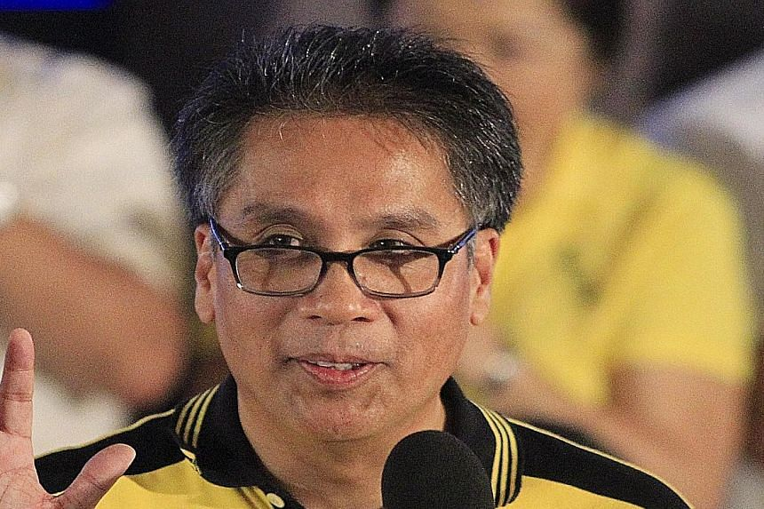 In his speeches, Mr Mar Roxas (above) recalls younger brother Gerardo Roxas Jr, a congressman who died of cancer in 1993.