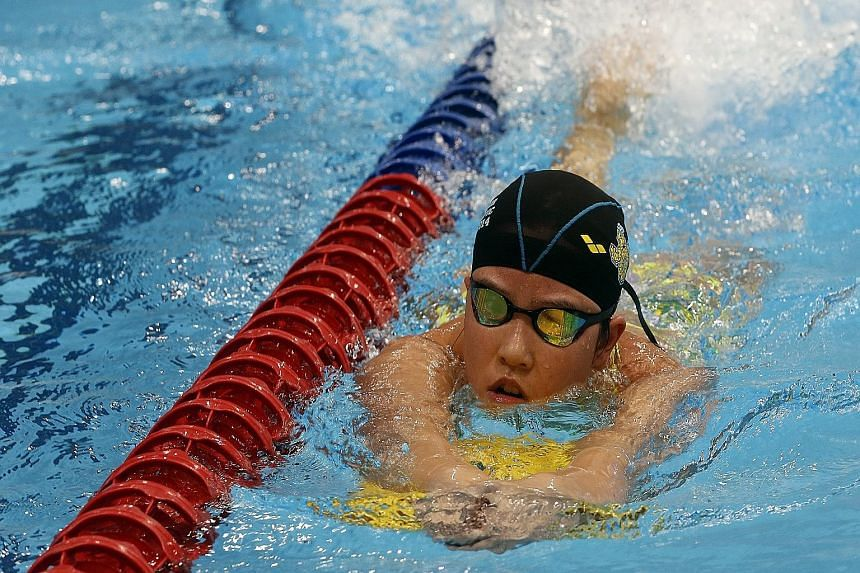 Rachel Tseng, 17, is part of the National Training Centre squad's new intake of swimmers under the long-distance category. During training, the former 800m freestyle swimmer builds up endurance for her new 1,500m event.