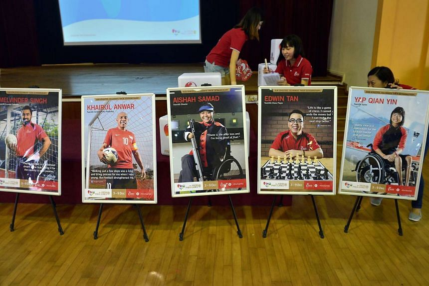 15 promotional posters featuring Singapore's para athletes were unveiled at the ceremony.