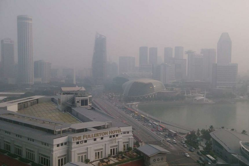The haze situation in the Central Business District at 8:30am.
