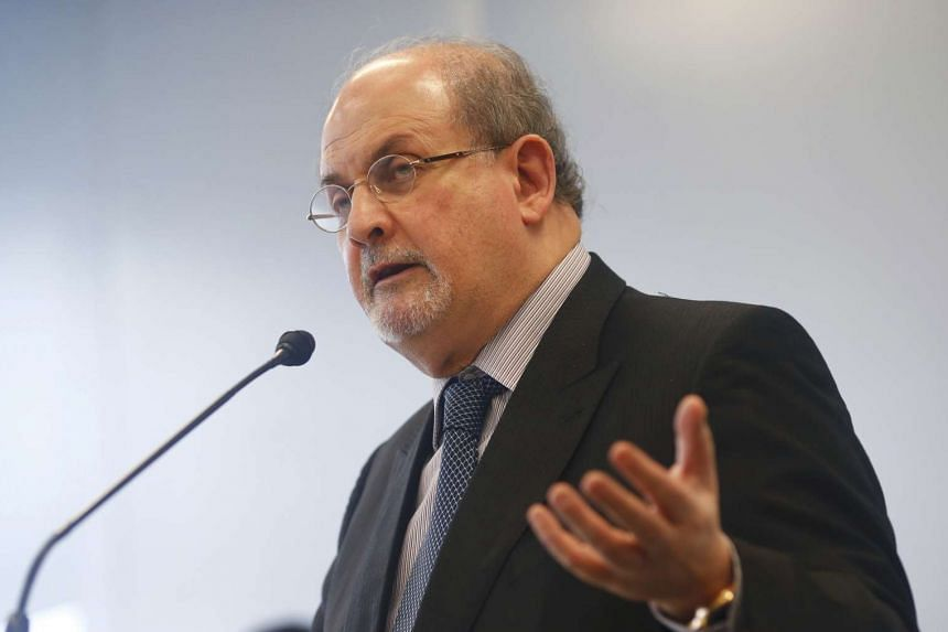 Author Salman Rushdie speaks during the opening news conference of the Frankfurt book fair, Germany Oct 13, 2015.