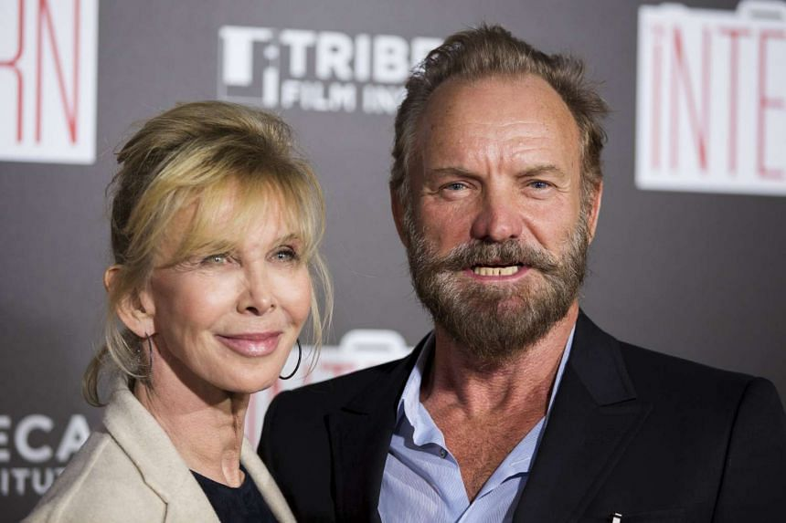 Singer Sting and his wife Trudie Styler in New York on  Sept 21 this year.